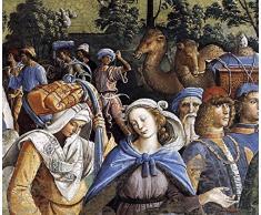 OdsanArt-Culla da viaggio in Egitto e la circoncisione di suo figlio Eliezer (Dettaglio) da Pietro Perugino fine di alta qualità arte stampe su tela