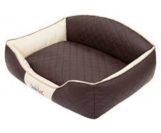 Hobbydog Elite Letto per Cani, XL, Colore: Marrone/Beige Lati