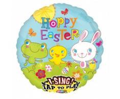 amscan 28 Sing-A-Tune Culla Tail-Palloncini con Scritta Happy Easter