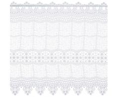 Plauener Spitze by Modespitze, Tendina Decorativa, Altezza 58 cm, Bianco (Weiß), Larghezza: 93 cm