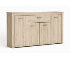 13Casa Brava Buffet, Brushed Oak, Linen, 37.8 x 160.2 x 15 cm