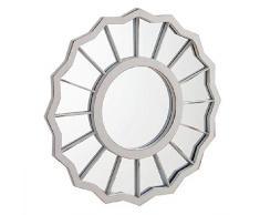 Dcasa Specchi da Parete mobili Adesivi Decorativi per la casa Unisex Adulto, Crema (Crema), Unico