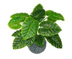 Leaf Design UK - Pianta Artificiale, 60 cm, Colore: Nero