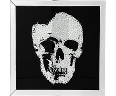 KARE Quadro Frame Specchio Skull, Nero, 100 x 4.5 x 100 cm