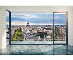 Scenolia Carta da Parati Poster panoramico Paris at Home 4 x 2,70 m | Decorativo e Foto Parete XXL qualità HD