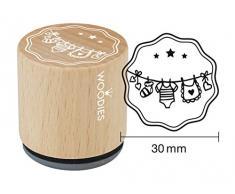 Woodies Timbro Corda stendibiancheria, Legno, 3,4Â x 3,4Â x 3,5Â cm