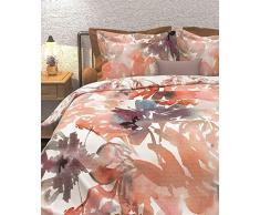 Heckett Lane Biancheria da Letto 100% Cotone Tandy 155 x 220 (80 x 80) Apricot Rose