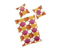 Bierbaum, Set Biancheria da letto in raso di cotone Mako, Multicolore (Mehrfarbig), 200 cm x 200 cm