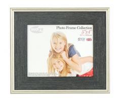 Inov8 tradizionali foto e cornici britannici, 13 x 10 cm, confezione da 2 54 HORSE-AUS-, Austen carbone argento