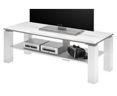 Stella Trading Romy TV - Mobile Basso in Legno, 120 x 45 x 41 cm, Colore: Bianco