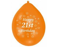 Amscan 22.8 cm-10 21 palloncini buon compleanno lattice