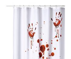 Sanilo Tende da doccia, 100% poliestere, Poliestere, Mani insanguinate, 180 x 180 cm