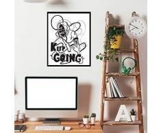 Walplus 29x36.25 cm adesivi da parete cornice KEEP GOING citazione rimovibile autoadesivo arte murale decalcomania vinile DECORAZIONE CASA fai-da-te VIVENTE ufficio camera letto carta parati
