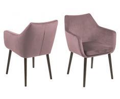 AC Design Furniture - Sedia a braccioli, Colore: rosé/Marrone Scuro