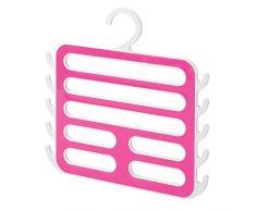 InterDesign Remy Organizzatore Armadio per Camiciole, Sciarpe, Pashmine, Accessori - Bianco/Rosa