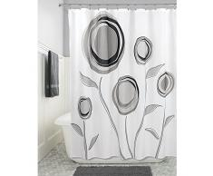 InterDesign Marigold Tenda Doccia, Tessuto, Nero, 180x0.2x180 cm