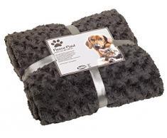 Nobby plaid in pile super morbido, 60 x 85 cm, grigio