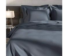 Heckett Lane Biancheria da Letto 100% Cotone makò Satinato Puntini 140 x 220 (60 x 70) Steel Blue