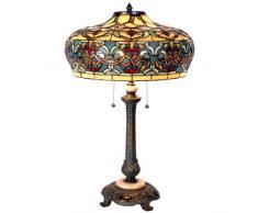 La Casa di Tiffany 5ll-5290 Lampada da Tavolo, Multicolore