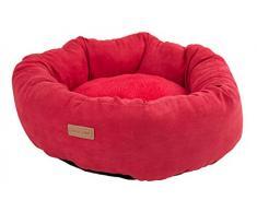 Wouapy Basic Line ovatta cuccia per cani, rosso, letto per cani in 40Â x 14Â cm