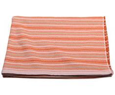 David Fussenegger Riva Coperta in Cotone Strisce, Tessuto di Cotone di Alta qualità , Arancione, 200x 140cm