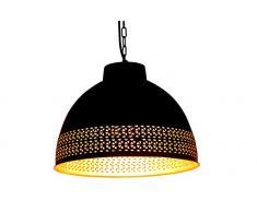 Paralume stile industriale vintage, realizzato a mano, per bar, loft, cucina, ristorante, per lampade da soffitto, di colore nero