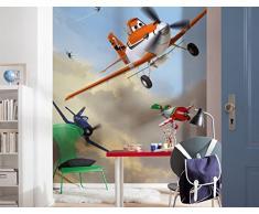 Komar Disney Planes Dusty And Friends Carta da Parati Multicolore, 4 Pezzi