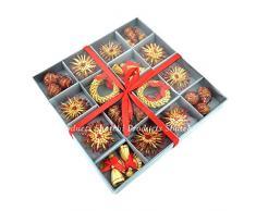 Shatchi Ornamenti di grano e paglia realizzati a mano da appendere allalbero di Natale, decorazioni natalizie per la casa, 36 pezzi