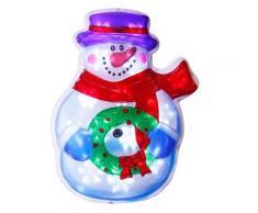 Portacandela pupazzo di neve di Natale a LED