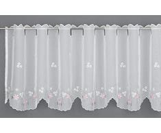 Gardinia Tendina da bistrot, Bianco, 140 x 45 cm