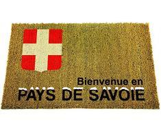 ID Opaco 406015 regionali Savoie-Tappeto Zerbino in Fibra di Cocco/PVC, Colore: Beige, 60 x 40 x 1,5 cm