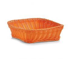 Zeller 18073 - Cestino Quadrato per Pane, in plastica, Colore: Arancione