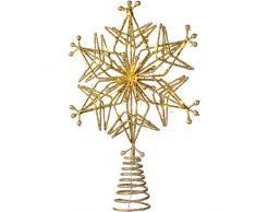 WeRChristmas, Puntale per Albero di Natale, Argento, Oro, 32 cm