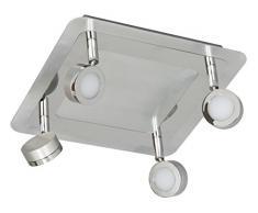 Ranex 10.060.21 (3000.070) Lampade Led 4 Faretti da Soffitto, Cromo, Silver