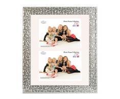Inov8 PFES-Mosl-DA2 tradizionali foto e cornici britannici, 25 x 30 cm, doppia visiera 2x 13 x 18 centimetri, mosaico dargento
