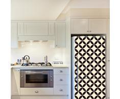 WALPLUS – Adesivi da Parete Circle Star Pattern 4 Confezioni Frigo Decorazioni Rimovibile Adesivi Decalcomanie Arte Salotto Cucina mobili Arredamento Decorazione per la casa, ristoranti, Hotel