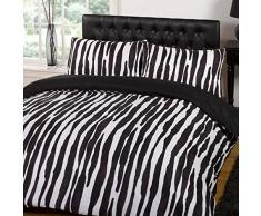 Dreamscene bella Raya set biancheria da letto copripiumino con stampa animalier, rosa, doppio P, Poliestere, Pink, Doppio