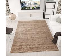 Vimoda viva6824 moderno pelo corto Tappeto screziato, certificazione Ökotex, colori reale, facile da pulire, marrone, 80 x 150 cm
