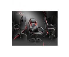 Home Forza Racer RS girevole sedia da ufficio sedia da scrivania, Nero di colore: rosso