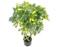 Leaf Foglia 70 cm Stelo Ritorto Oro Capella Arboricola pianta Artificiale Bonsai Bush