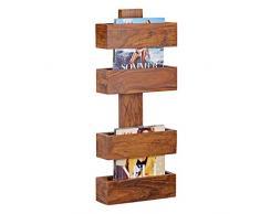Soggiorni Ling WL1, 533 legno Sheesham massiccio scaffale giornale supporto 30 x 10 cm