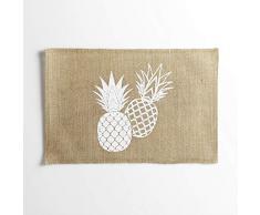 Il giardino delle cicale Ananas Spirit Set di tavolo, Vimini, senza, 45Â x 30Â cm