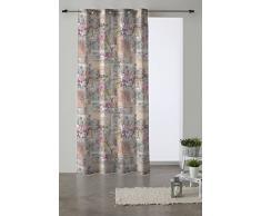 Martina Home Romantic Tenda Occhielli, Tessuto, Multicolore, 280Â x 140Â x 3Â cm