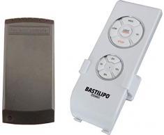 Bastilipo 5230 - Kit telecomando a 4 frequenze, 3 velocità e posizione di spegnimento, montaggio a parete, compatibile con la maggior parte dei ventilatori a soffitto 5230, colore: Bianco