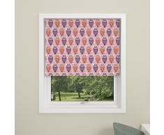 DEBEL Gufo, per Bambini, Motivo: Tenda a Rullo Oscurante, in Poliestere, Colore: Rosa, Dimensioni: 80 x 175 cm