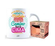Mr Cool co-t184Tazza Ceramica 33cl in scatola regalo con scritta Extra por Que Sea la montaña Siempre Hay un Camino Hacia La Cima