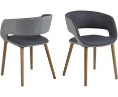 AC Design Furniture 66391 Grace - Sedia per Sala da Pranzo, ca. 56/52/76 cm