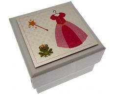 Cotone Bianco Carte principessa e il Partito box per bambini rana per gli invitati a nozze/sacchetto del partito agenti di riempimento con coperchio