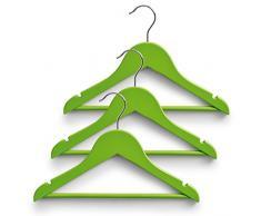 Zeller appendiabiti, legno, verde, 30.5Â x 19Â x 3.5Â cm, Legno, verde, 30.5 x 19 x 3.5 cm
