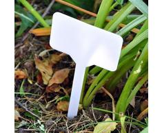 ASAB - Etichette adesive per Piante, in plastica, con Motivo Floreale, per vasi, vasi, Serre, Erbe e Verdure, Confezione da 10